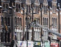 伦敦暴乱后果, Clapham连接点 免版税库存图片