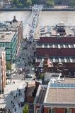 伦敦从圣保罗大教堂的顶端市视图 免版税库存照片