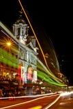 伦敦维多利亚宫殿剧院在晚上 库存照片