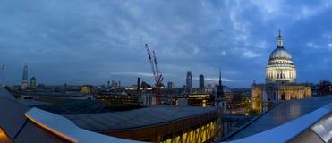 伦敦从大阳台的市视图全景  库存照片