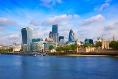 伦敦财政区地平线平方英里 免版税库存图片