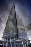 伦敦5月,第11, 2015年 306m角度是楼房建筑铕hdr地标伦敦新的scrapper碎片射击天空细微的最高的下面宽意志 免版税库存图片