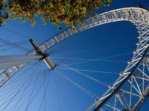 伦敦-12月4日:伦敦眼的看法在伦敦12 4 2016年 免版税库存图片