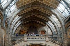 伦敦- 6月10 :人们在Natur的一个楼梯顶部 免版税图库摄影