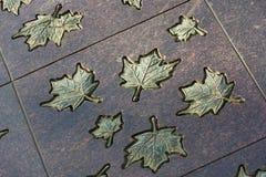 伦敦- 11月3 :加拿大纪念品在没有的绿园伦敦 库存照片