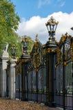 伦敦- 11月3 :加拿大门在绿园在没有的伦敦 图库摄影
