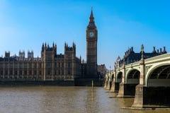 伦敦- 3月13 :大本钟和议会议院看法我 库存照片