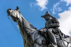 伦敦- 11月3 :惠灵顿纪念碑公爵在N的伦敦 免版税库存照片