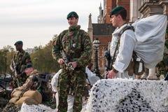 伦敦- 11月12 :游行的正规的士兵在Lor 库存照片