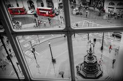 伦敦- 4月24 :皮卡迪利广场鸟瞰图4月24日的, 库存图片