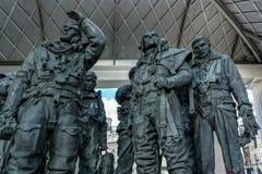伦敦- 11月3 :纪念R的菲利普杰克逊的雕塑 免版税库存照片