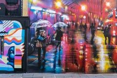 伦敦- 3月30 :街道艺术graffity在2017年3月30日的坎登镇 免版税库存照片