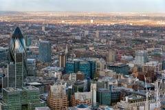 伦敦- 12月6 :从碎片的看法在12月的伦敦 库存照片