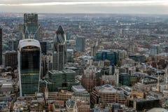 伦敦- 12月6 :从碎片的看法在12月的伦敦 免版税库存图片