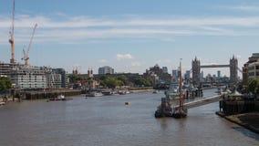 伦敦水池从伦敦桥的 免版税库存照片