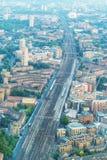 伦敦-美好的空中城市地平线 库存图片