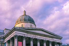 伦敦画廊紫色 免版税库存图片