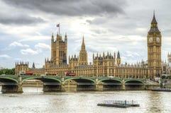 伦敦-议会&大本钟议院  免版税图库摄影