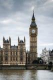 伦敦-议会&大本钟议院  库存照片