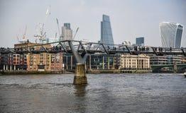 伦敦-资本的现代地平线 库存图片