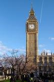 伦敦- DEC 9 :关闭大本钟看法在20的12月9日,伦敦 图库摄影