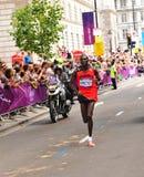 伦敦2012奥林匹克马拉松赢利地区 库存图片