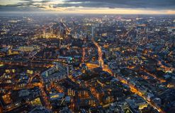 伦敦Arial视图黄昏的 免版税库存照片