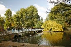 伦敦Autum,圣詹姆斯的公园 免版税库存图片