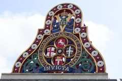 伦敦Chatham和多弗铁路,伦敦,英国徽章  免版税图库摄影