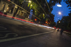 伦敦Edgware路长的曝光射击 免版税库存照片
