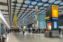 伦敦Hethrow终端5行李大厅 免版税图库摄影