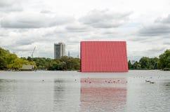 伦敦Mastaba Christo,海德公园 库存照片