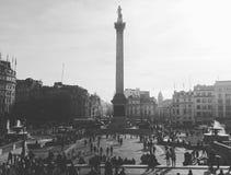伦敦Trafalgar广场 库存照片