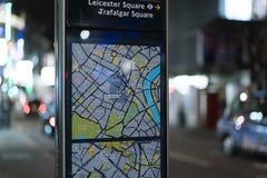 伦敦Westend -伦敦苏豪区区伦敦英国地图  库存照片