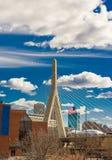 伦纳德Zakim邦克山纪念桥梁波士顿 免版税库存图片