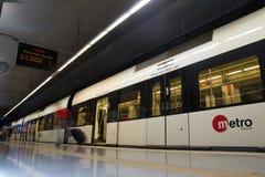 巴伦西亚地铁 图库摄影