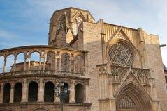 巴伦西亚大教堂致力圣母玛丽亚 库存照片