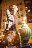 巴伦西亚将烧3月19日的费斯特形象的法利亚斯 图库摄影