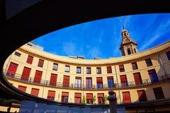 巴伦西亚广场雷东达岛圆的正方形 库存照片