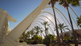 巴伦西亚西班牙市中心建筑学 股票视频