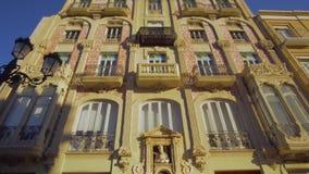 巴伦西亚西班牙市中心建筑学 股票录像