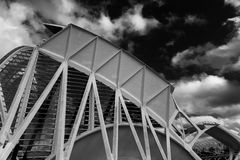 巴伦西亚西班牙,艺术和科学城市 免版税库存图片