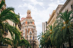 巴伦西亚银行  现代建筑学在西班牙 免版税库存照片