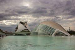 巴伦西亚,现代建筑学 免版税库存照片