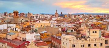 巴伦西亚,西班牙全景  免版税库存照片
