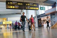 巴伦西亚,西班牙机场 库存图片