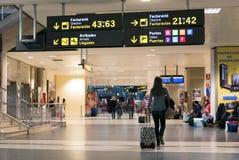 巴伦西亚,西班牙机场 免版税图库摄影