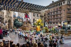 巴伦西亚,西班牙,法利亚斯节日 免版税图库摄影