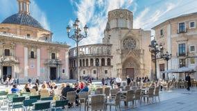 巴伦西亚,西班牙2016年12月02日:大教堂巴伦西亚 图库摄影