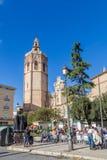 巴伦西亚,西班牙2016年12月02日:大教堂巴伦西亚 免版税图库摄影
